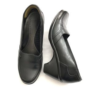 Dansko Leather Career Slip-on Heeled Clogs Sz 9.5